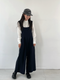 LINENNE - flow wide jumpsuit (deep navy):顯瘦!